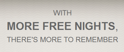 Hilton HHonors More Nights More Points Q1 2014 Promo