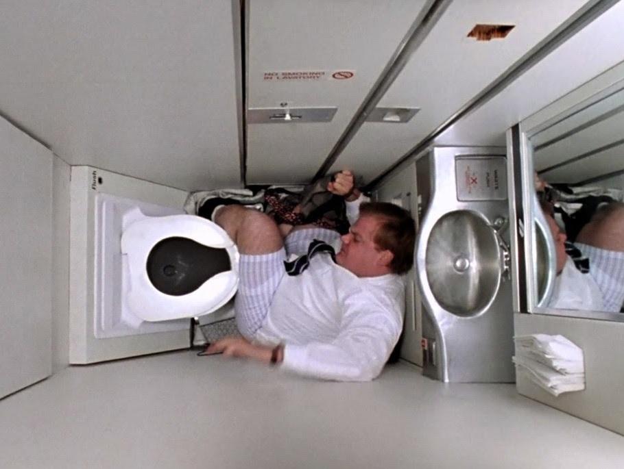 Spy cam found taped to bathroom on aa sfo jfk flight for Bathroom hidden camera photos