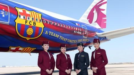 Qatar Barca Plane