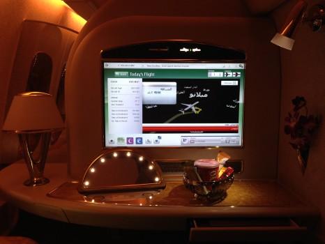 Emirates First Class DXB-MXP Dubai Milan 77702