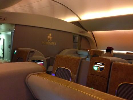 Emirates First Class DXB-MXP Dubai Milan 77708