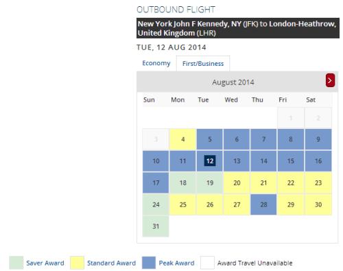 Delta Award Calendar