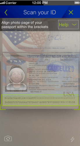 united mobile app passport scan1