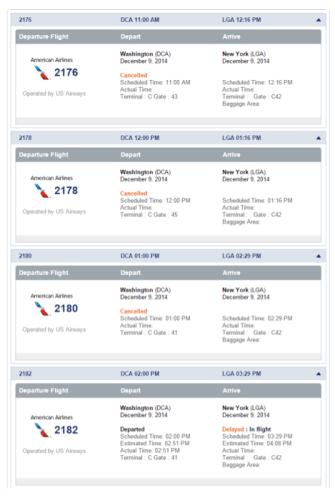 AA Canceled Flights