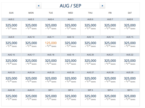 Delta Award Availability Aug-Sept