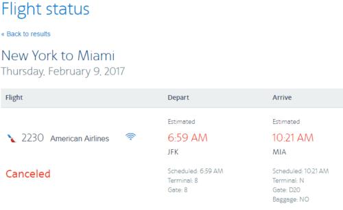 AA Flight Status