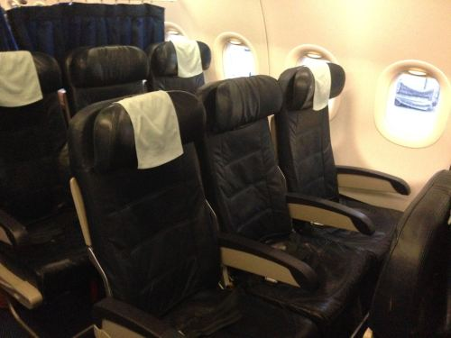 British Airways Club Europe (Business) LHR-NCE A319 02