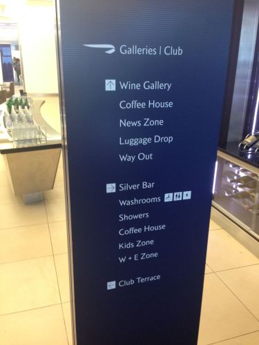 British Airways Galleries Club Lounge LHR Terminal 5A09