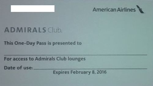 Giveaway: 2 Admirals Club One Day Passes