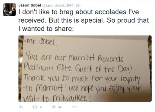 Platinum Elite is Marriott's highest level.