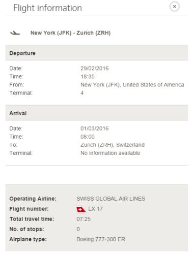 Swiss 777 JFK