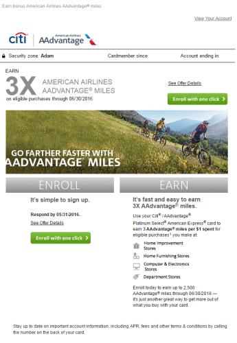 AA 3X Miles