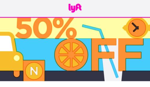 Lyft 50 Percent Off