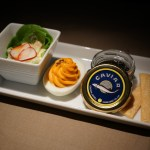 Japan Airlines First Class Caviar Service