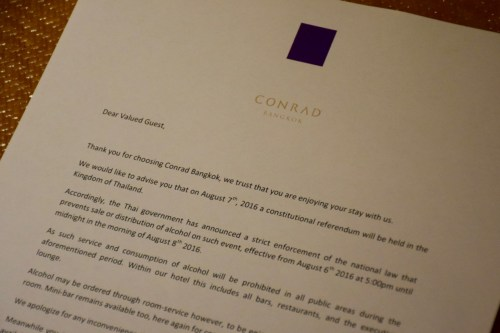Conrad Bangkok Executive Corner King Room - Letter