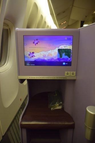 Thai Airways 777 Business Class in-flight entertainment