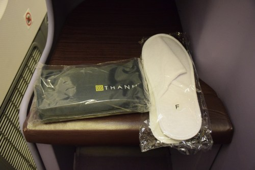 Thai Airways 777 Business Class slippers amenity kit