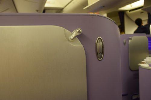 Thai Airways 777 Business Class coat hook