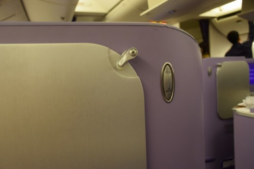 Thai Airways 777 Business Class coat hook