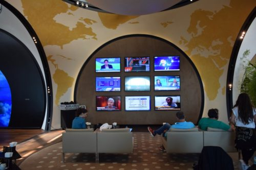 Turkish Airlines CIP Lounge - TV