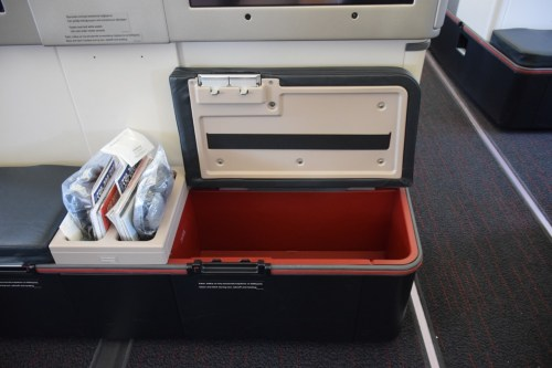 Turkish Airlines Business Class A330 - Ottoman Storage