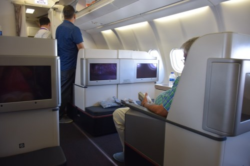 Turkish Airlines Business Class A330 - Cabin