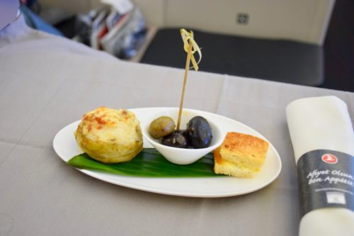 Turkish Airlines Business Class A330 - Canapes