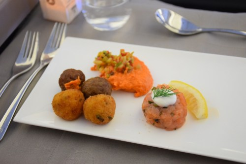 Turkish Airlines Business Class A330 - Appetizers