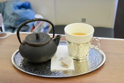 Turkish Airlines Business Class A330 - Herbal Tea + Turkish Delight