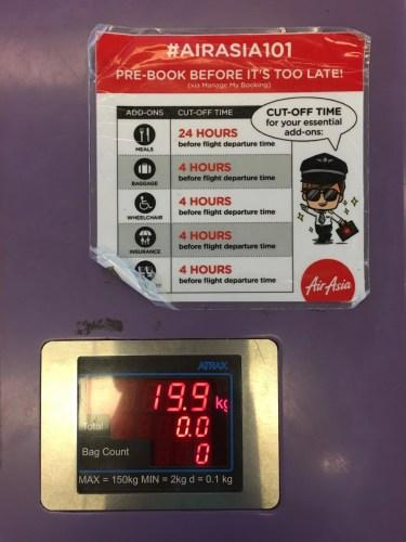 AirAsia Check In - Baggage Scale