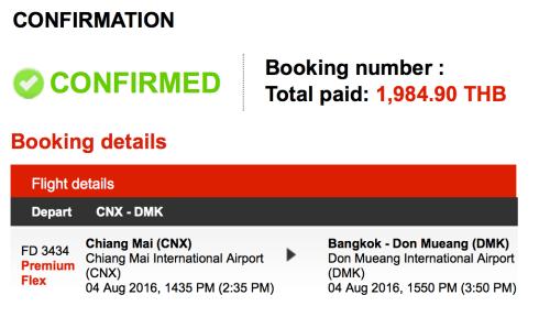 AirAsia Premium Flex booking