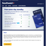 Southwest announces new free standby benefit