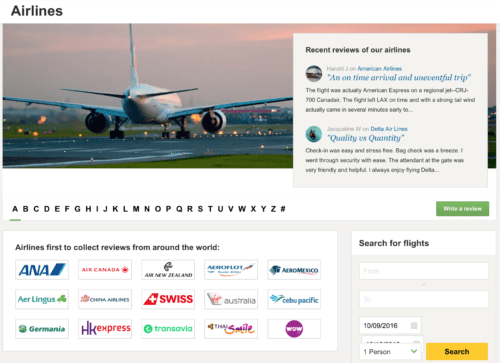 TripAdvisor now allows users to review airlines
