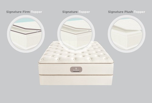 The new Four Seasons Signature Bed features interchangeable toppers