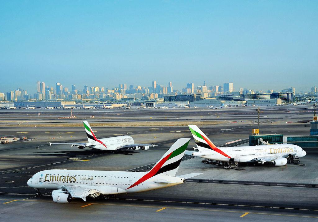 Emirates A380 at Dubai International Airport (DXB). Photo courtesy of Emirates.
