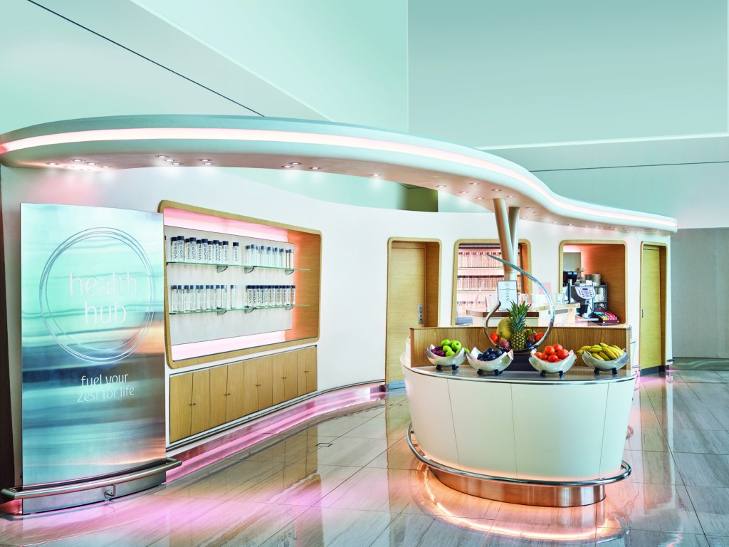 Renovated Emirates Business Class Lounge Dubai Concourse B Health Hub