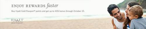 Receive up to 40% bonus points with the latest Hyatt promotion