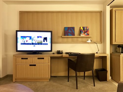 Conrad New York Deluxe Suite Living Room - Work Desk and TV