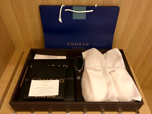 Conrad New York Deluxe Suite - Closet Amenities