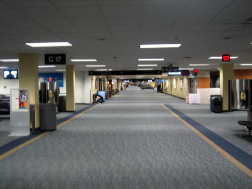 Washington Dulles Concourse C, part of where United operates. Photo by TheAirIsBetter, used with permission.