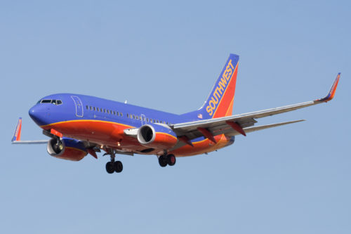 A Southwest Airlines 737. Photo by Dylan Ashe, used with permission.