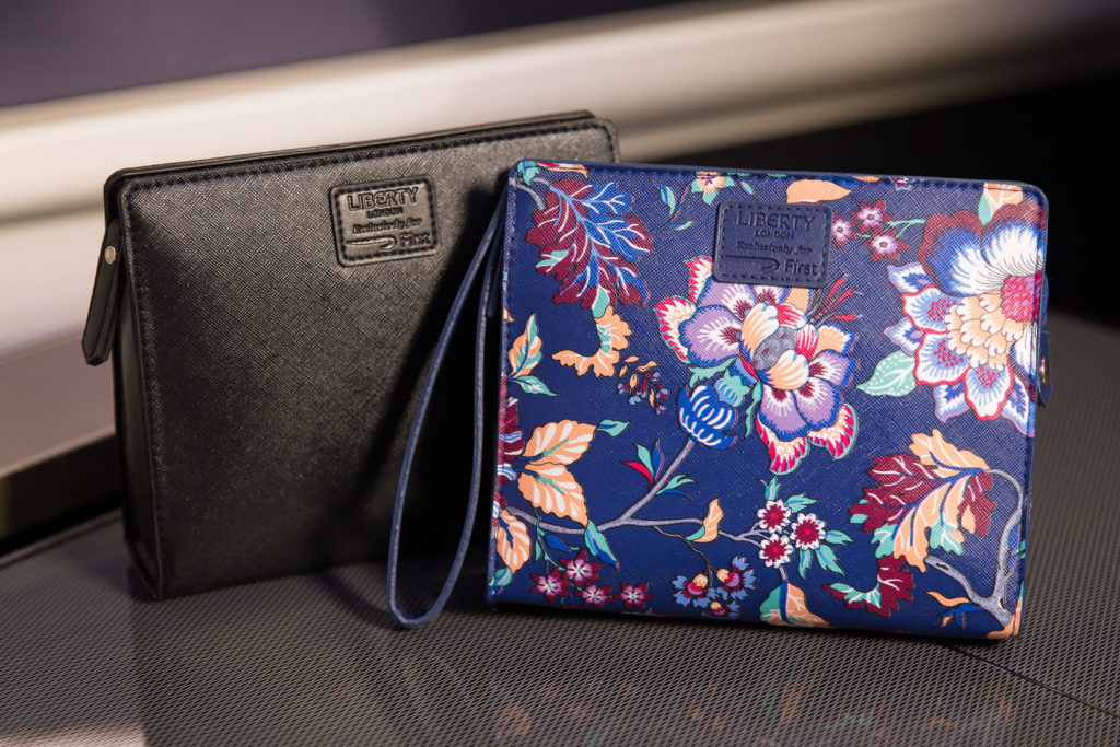 British Airways First Class Amenity Kits by Liberty London. British Airways/Stuart Bailey