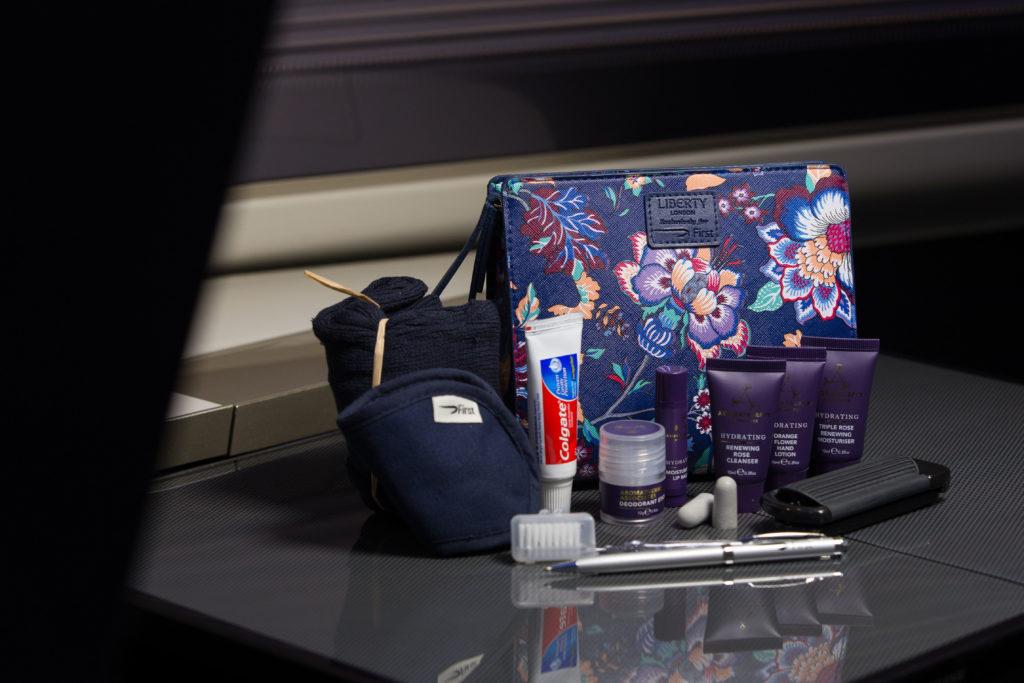 British Airways First Class Amenity Kit (Women's) by Liberty London. British Airways/Stuart Bailey