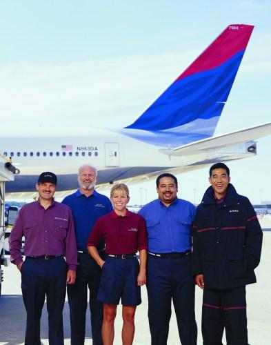Delta's below-wing employees received their last major uniform update in 2001