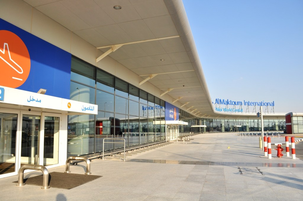 Arrivals Area of Al Maktoum Internatinoal Airport (DWC). Photo by MUC-Spotter, used with permission.