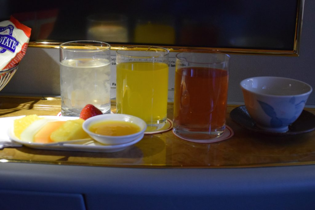 Emirates A380 Shower Spa Display - Aloe Vera Juices