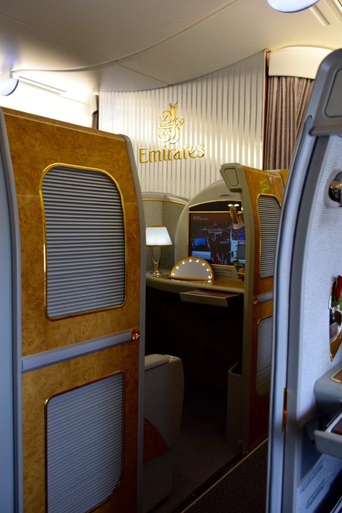 Emirates First Class A380 Cabin