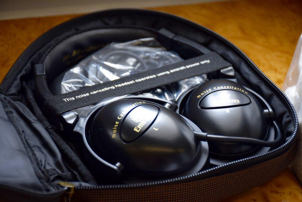 Emirates First Class A380 headphones