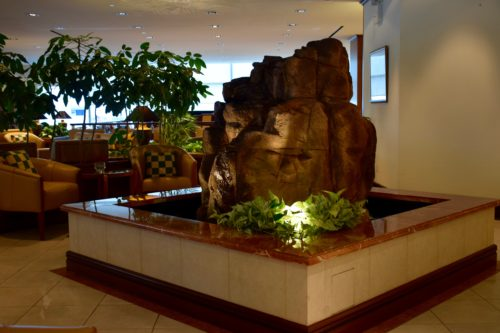 The Emirates Lounge JFK Centerpiece