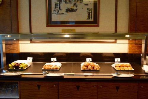 The Emirates Lounge JFK Breakfast Pastries